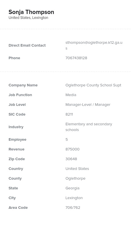 Sample of Media Directors, Managers Email List.