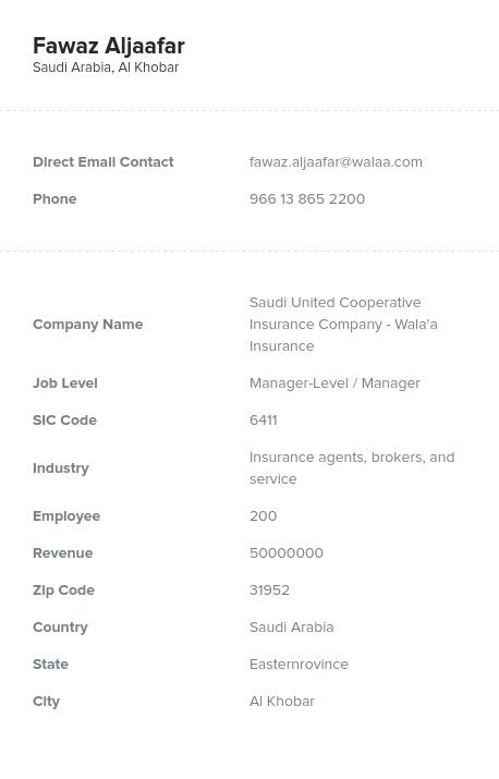 Sample of Saudi Arabia Email List.